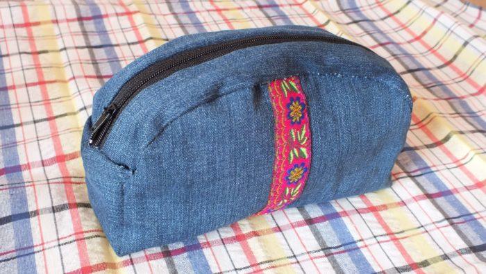 Косметичка из джинс