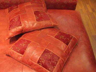 Подушка из кожи