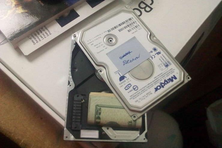 Секретный сейф из жесткого диска