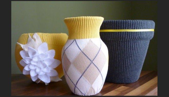 Оформление вазы